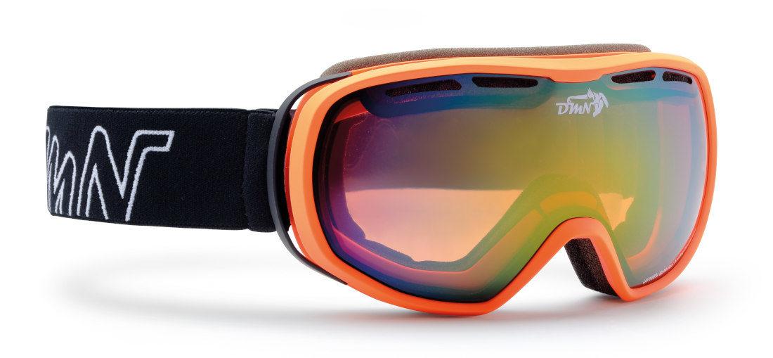 maschera da sci per teenager colore arancio opaco