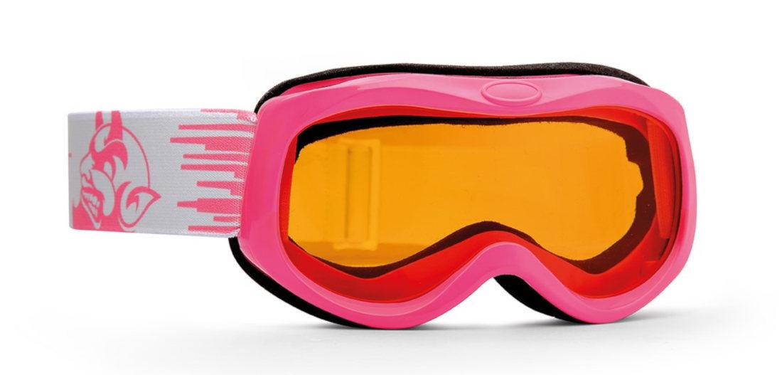 Maschera da sci per bambina lente fotocromatica modello BANFF colore rosa