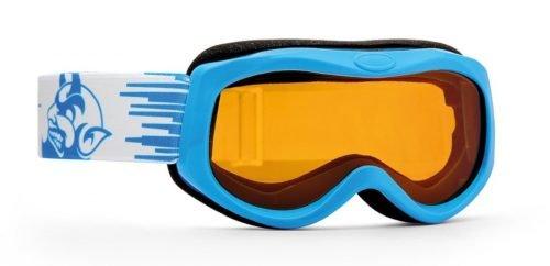 Maschera da sci per bambini fotocromatica colore azzurro