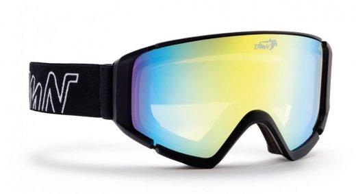 Maschera da snowboard con lente polarizzata specchiata giallo