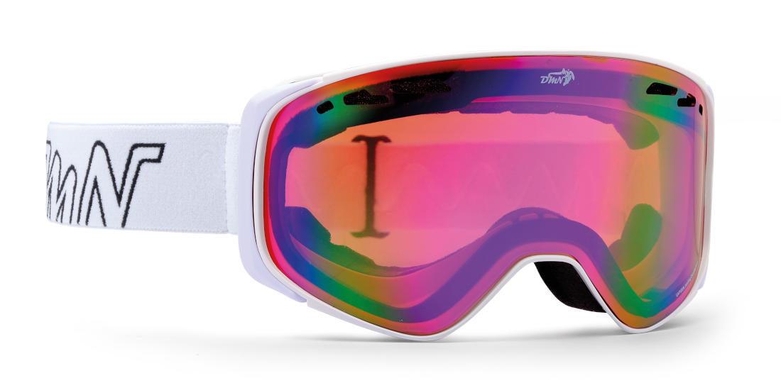 Maschera da Snowboard da donna per occhiali da vista colore bianco modello big sky