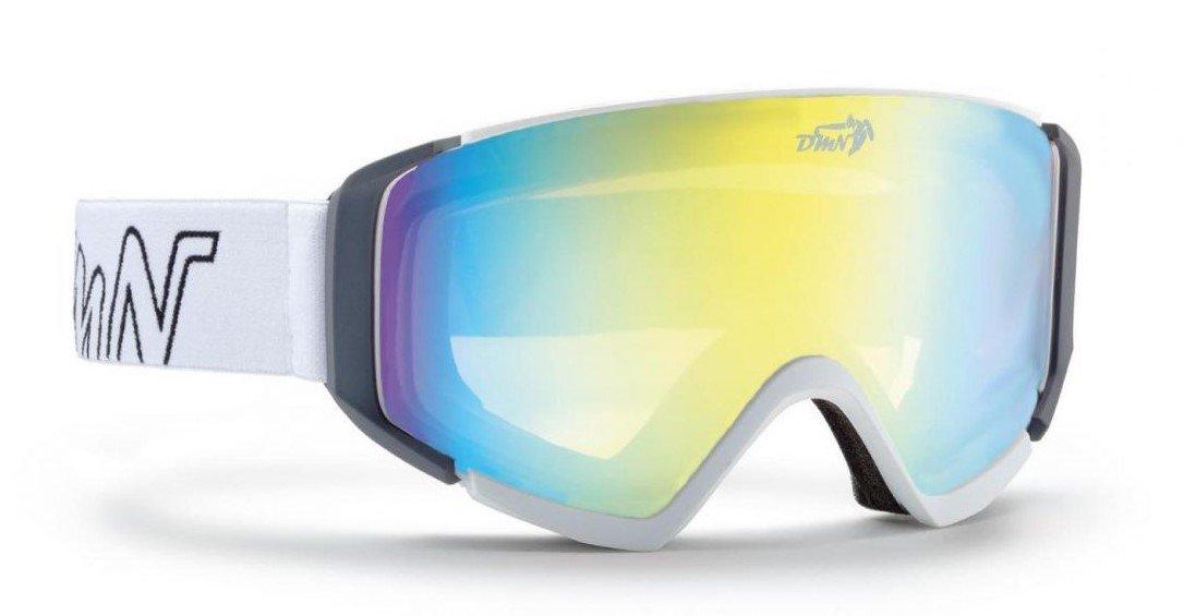 maschera da snowboard polarizzata colore bianco