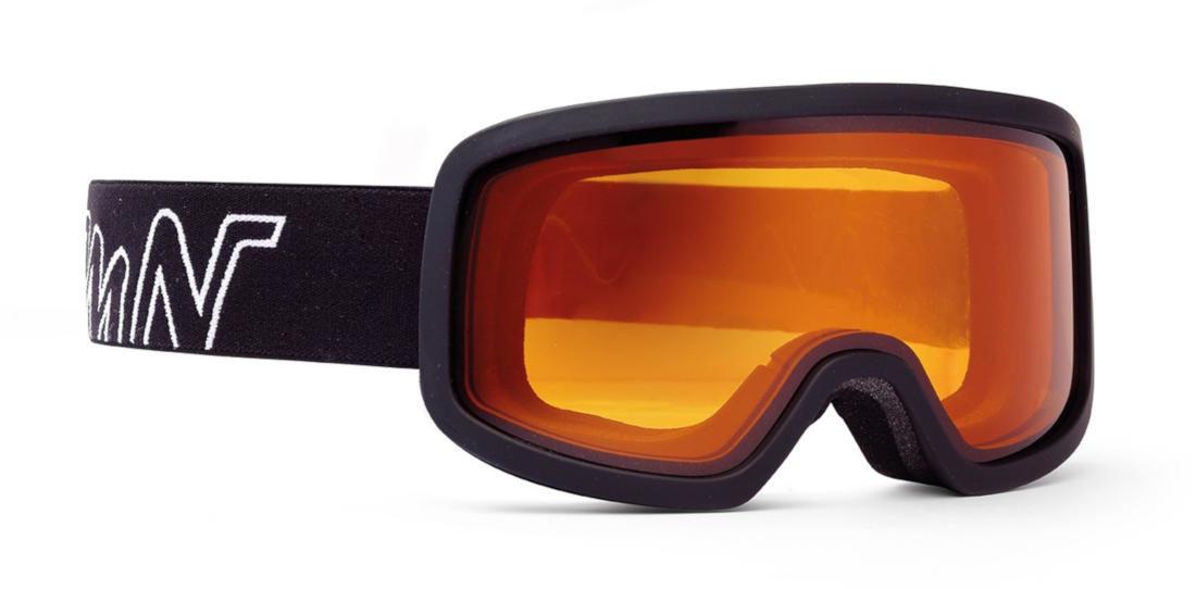 Maschera per sci da discesa fotocromatica nero gommato modello class