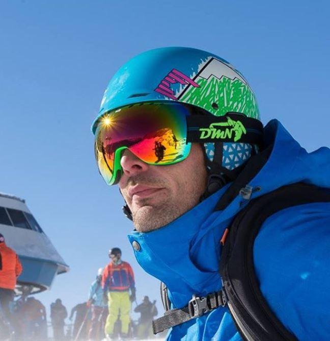 occhiali da sci con elastico regolabile
