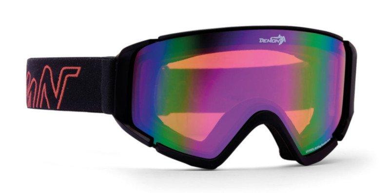 occhiali da sci con lente arancio per sciare in pista e fuoripista