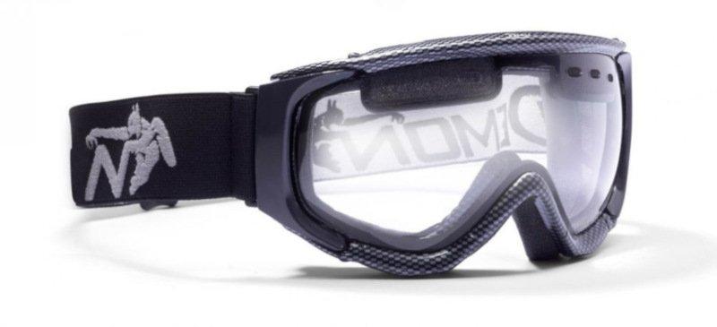 occhiali da sci con lente trasparente per sciare in notturna con nebbia o nevicata