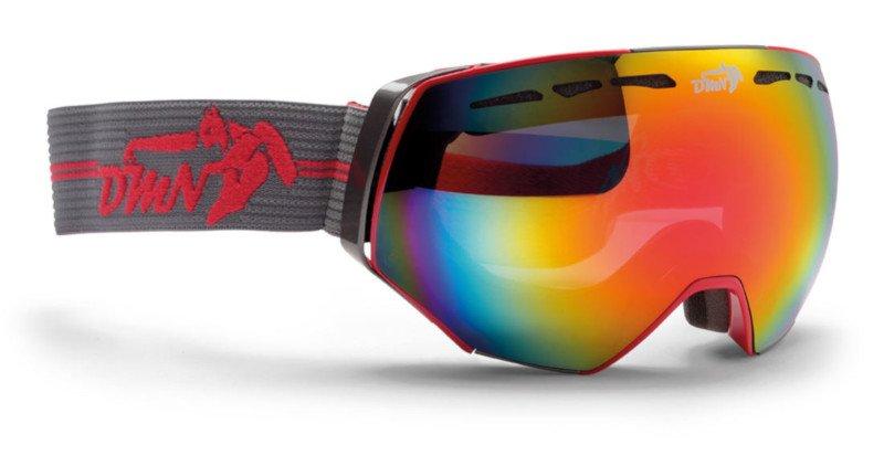 occhiali da sci con lente fumo specchiata per sci da discesa