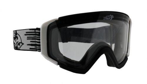 Maschera da sci con lente trasparente per nebbia e nevicata e sci in notturna con lente trasparente