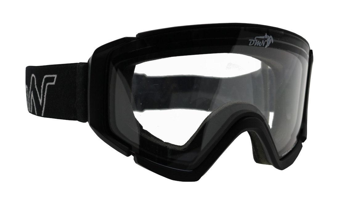 Maschera da snowboard lente trasparente per notturna nebbia e nevicata modello peak