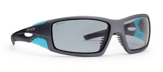 Occhiali da sci con lenti fotocromatiche polarizzate 2-4 modello DOME grigio opaco blu