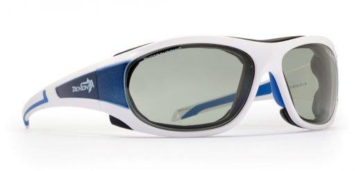 Occhiali da sci e Sci in ghiacciaio con lenti fotocromatiche modello MAKALU bianco opaco