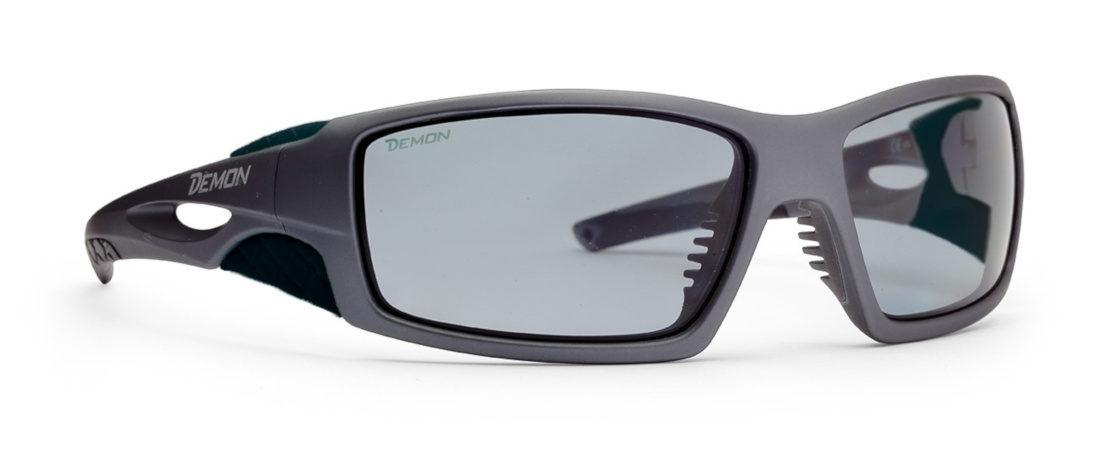 Occhiali da sci e scialpinismo con lenti fotocromatiche polarizzate 2-4 modello dome grigio opaco nero