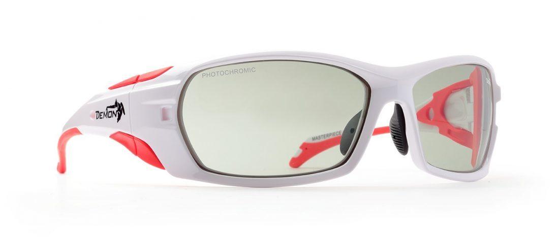 Occhiali da sci fotocromatici 2-4 modello MASTERPIECE Bianco lucido Rosso