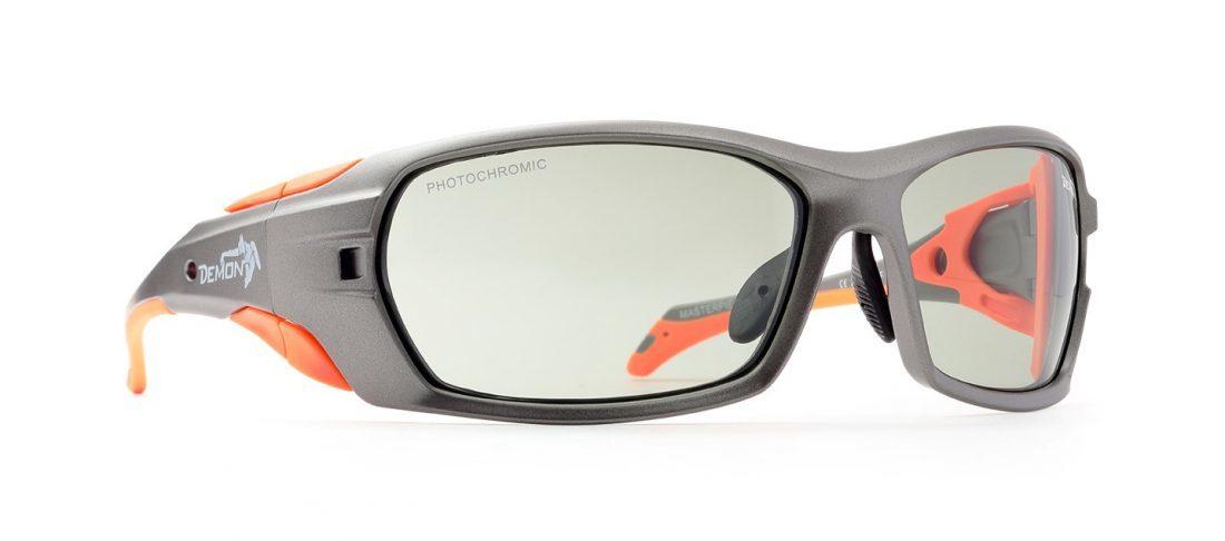 Occhiali da sci fotocromatici 2-4 modello MASTERPIECE Grigio Opaco Arancio