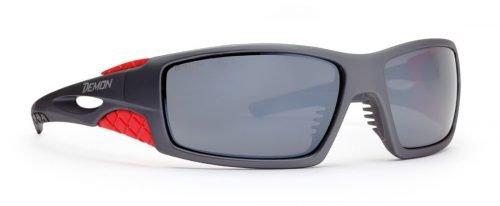 occhiali da sci per alta montagna con lenti categoria 4 grigio opaco rosso