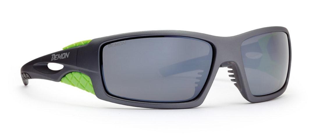 occhiali da sci per alta montagna con lenti categoria 4 grigio opaco verde