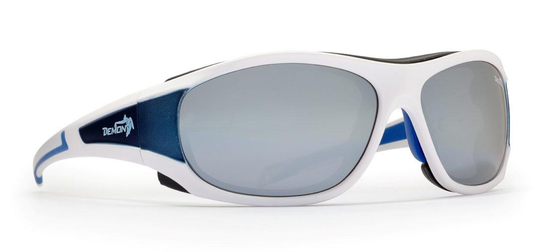 Occhiali da sci per alta montagna makalu lenti categoria 4 bianco opaco blu