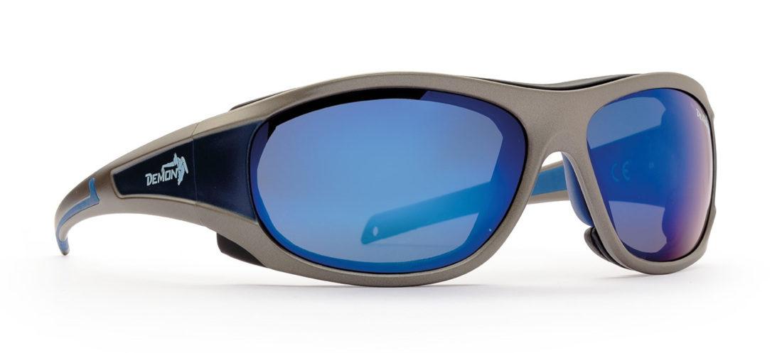 Occhiali da sci per alta montagna makalu lenti categoria 4 grigio opaco blu