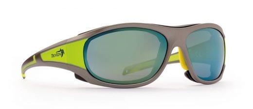 Occhiali da sci per alta montagna makalu lenti categoria 4 grigio opaco giallo