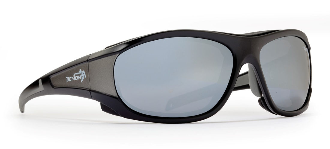 Occhiali da sci per alta montagna makalu lenti categoria 4 nero opaco grigio