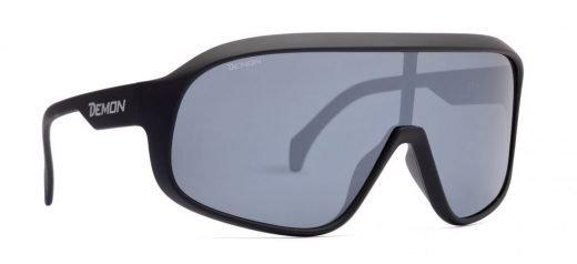 Occhiali da sci polarizzati a mascherina modello CRASH nero opaco