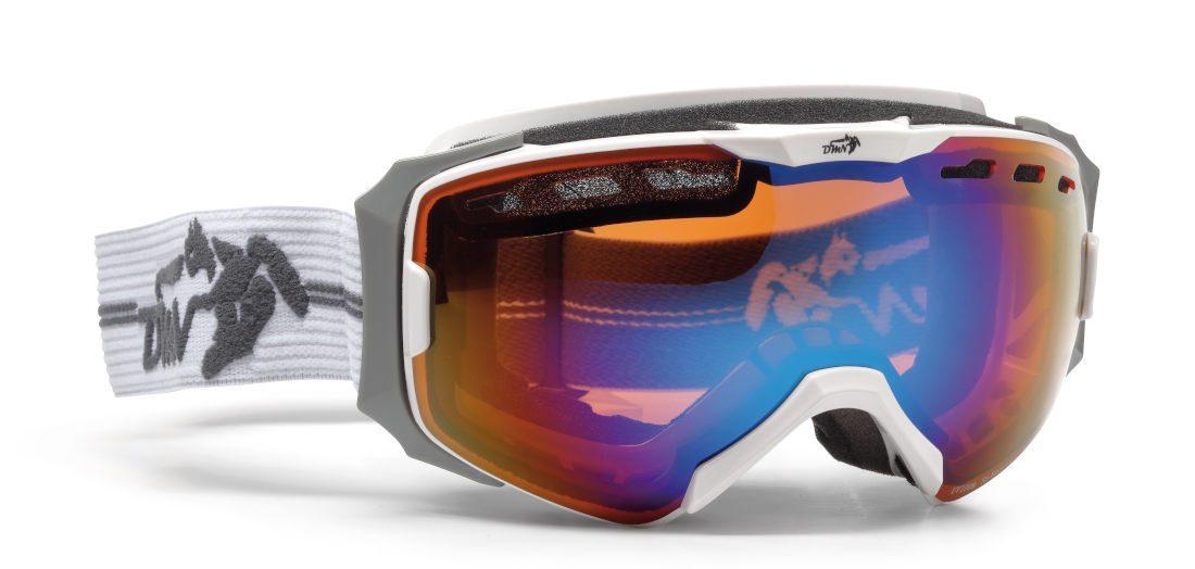 Maschera da donna per sci e snowboard colore bianco modello absolute