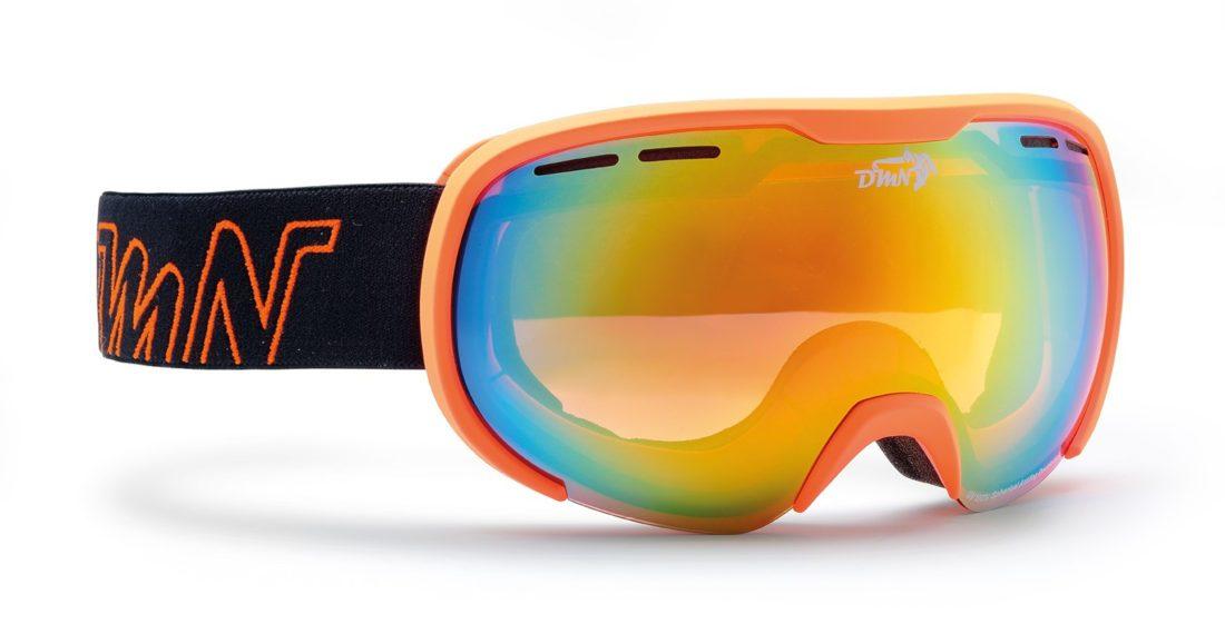 Maschera da sci e snowboard per adulto arancio fluorescente per uomo e donna modello LOGAN