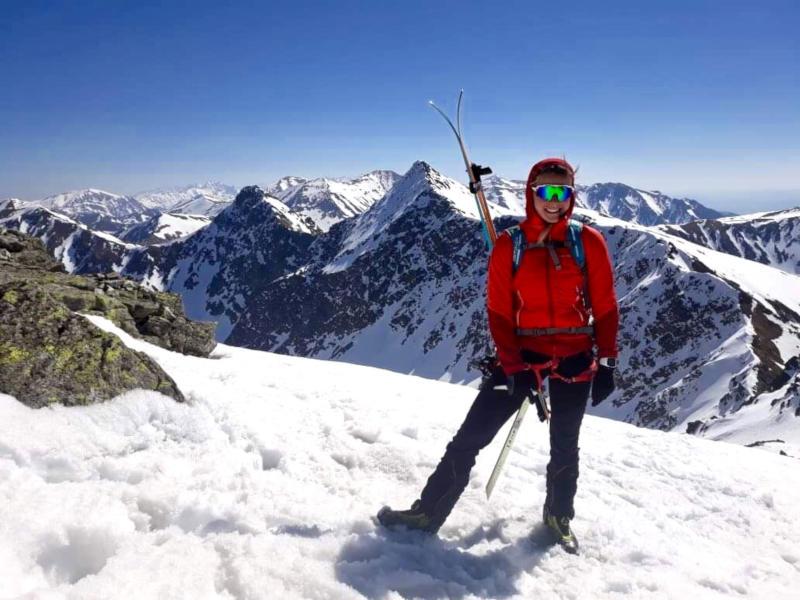 Occhiale da donna per sci e scialpinismo lente specchiata modello IMPERIAL