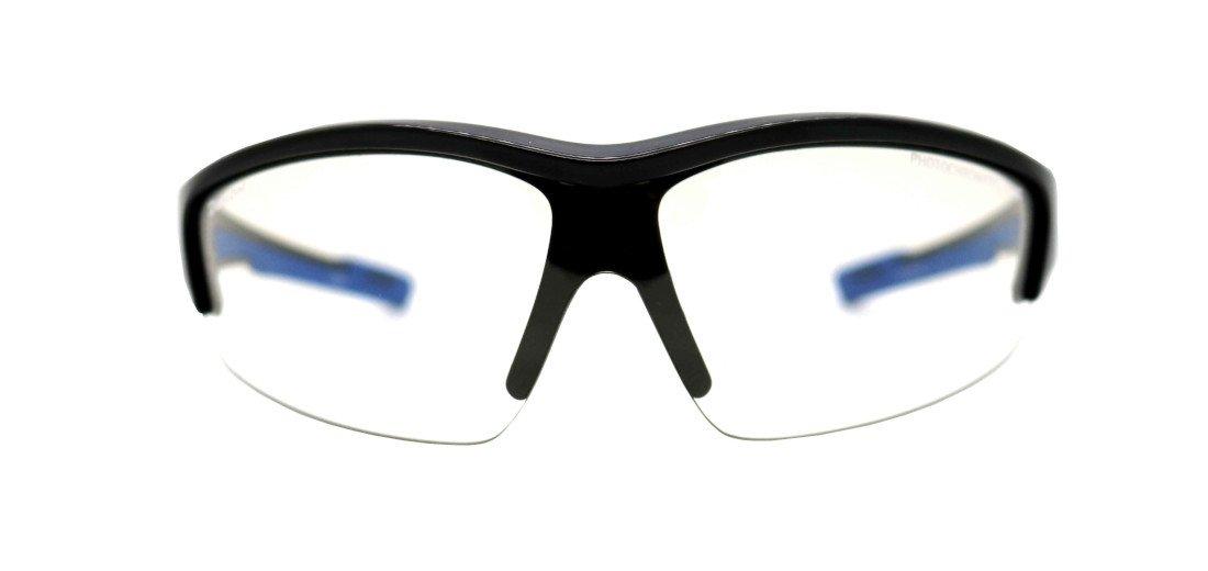 Occhiale da mtb lente fotocromatica a mascherina modello graz nero lucido