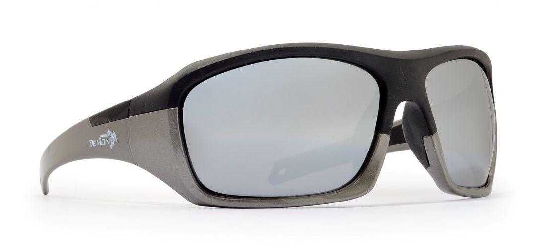 Occhiale da sci sportivo modello SOLID nero grigio