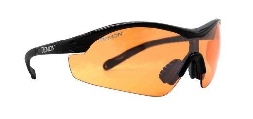Occhiale sportivo con lente arancio per meteo nuvoloso modello VENTO