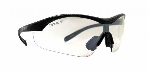 Occhiale sportivo con lente trasparente per notturna