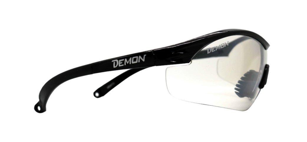 Occhiali sportivi con lente trasparente per bassa luminosità