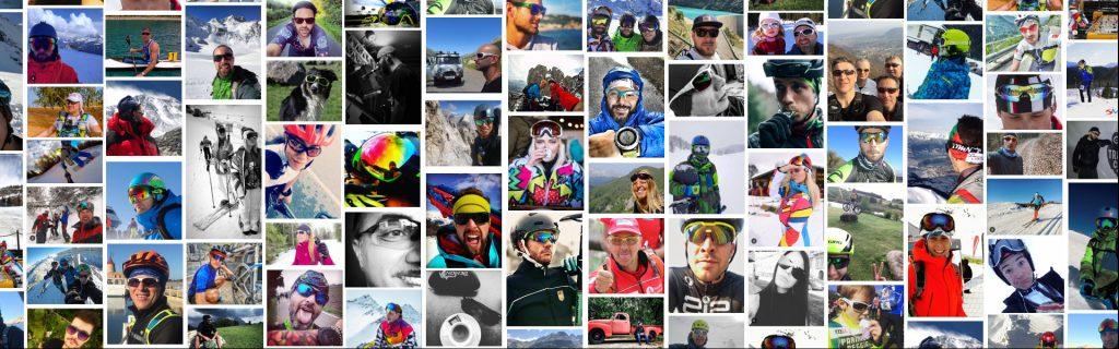Occhiali sportivi DEMON Selfie atleti
