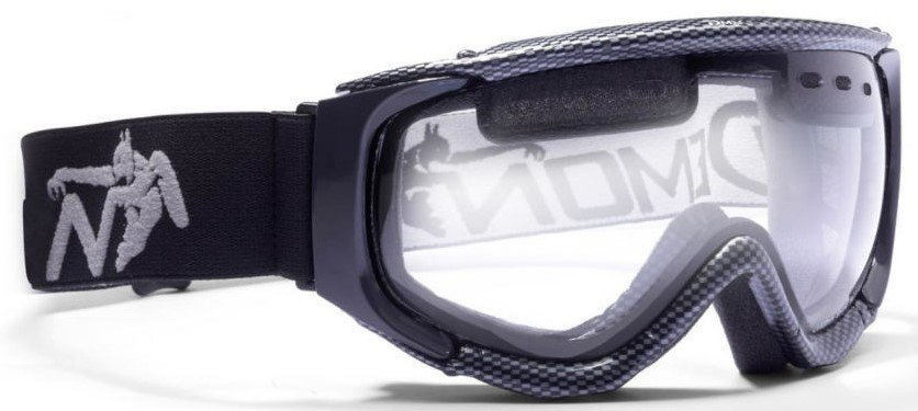 Maschera per scialpinismo con lente trasparente per nevicata