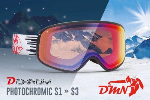 Maschera da sci e snowboard fotocromatica specchiata rosso modello INFINITY Limited Edition