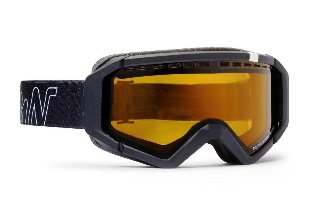 Maschera fotocromatica polarizzata per sci e snowboard modello neu total black