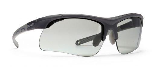 occhiale da montagna per escursionismo lenti fotocromatiche dchrom modello infinite optic nero opaco grigio
