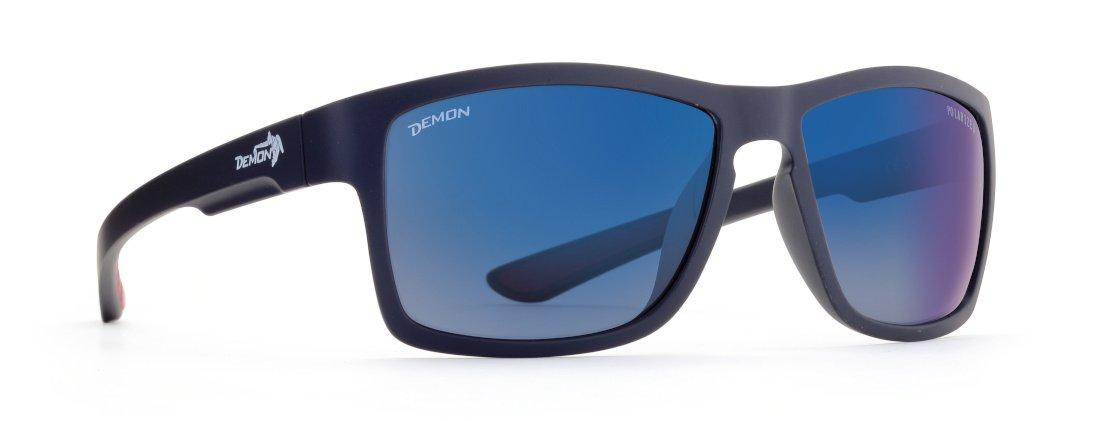 Occhiale da sole sport e moda lenti polarizzate specchio blu modello psquare