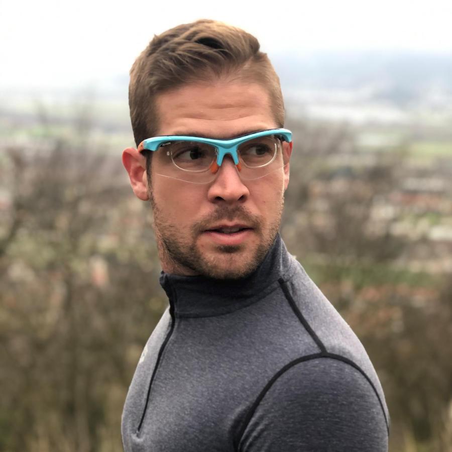 occhiale da vista fotocromatico per tiro con l'arco