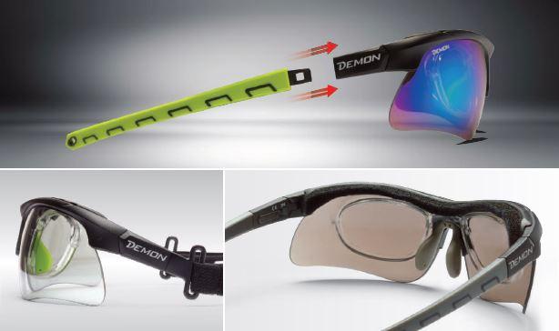 Occhiale da vista graduato per tiro con l'arco modello infinite optic