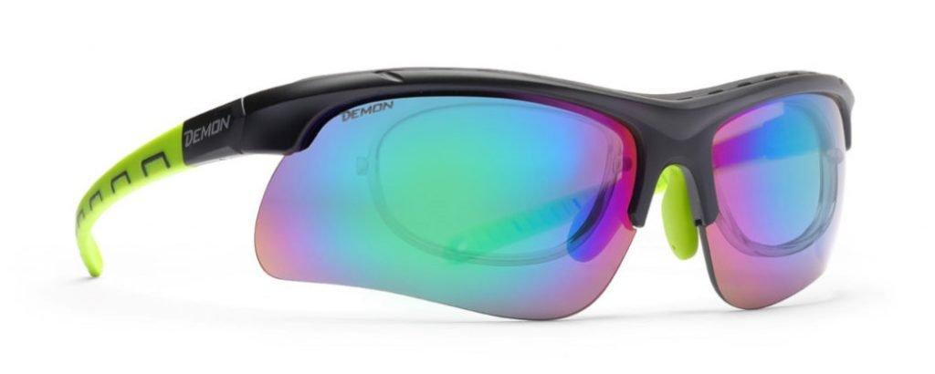 Occhiale da vista per kitesurf con lenti intercambiabili specchiate modello infinite optic rx
