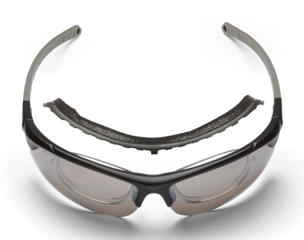 Occhiale da vista per tiro con l'arco con clip ottico e lenti intercambiabili