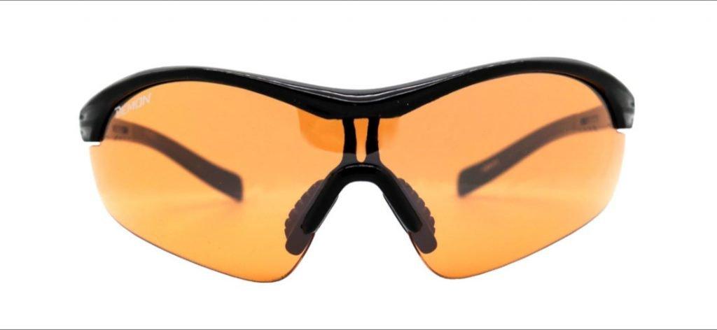 Occhiale per tiro con l'arco con lente arancio