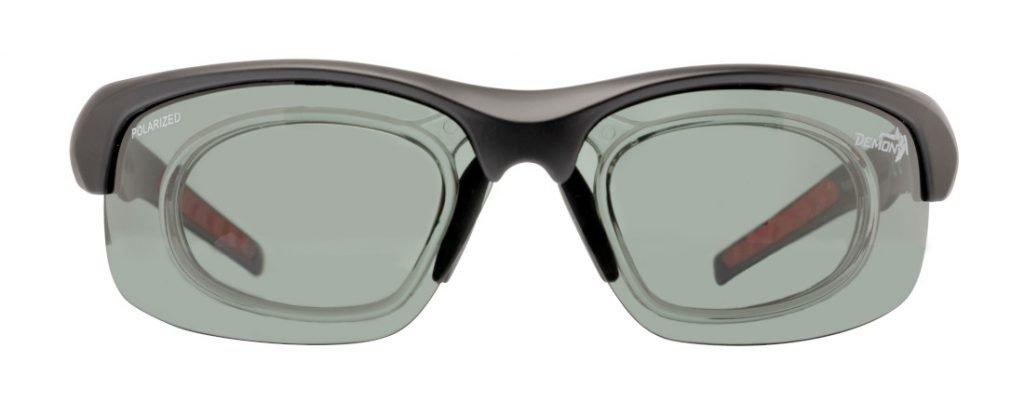 occhiale da vista per ciclismo lenti polarizzate fumo fusion nero opaco