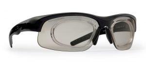 Occhiale da vista sportivo fotocromatico dchrom nero opaco modello FUSION