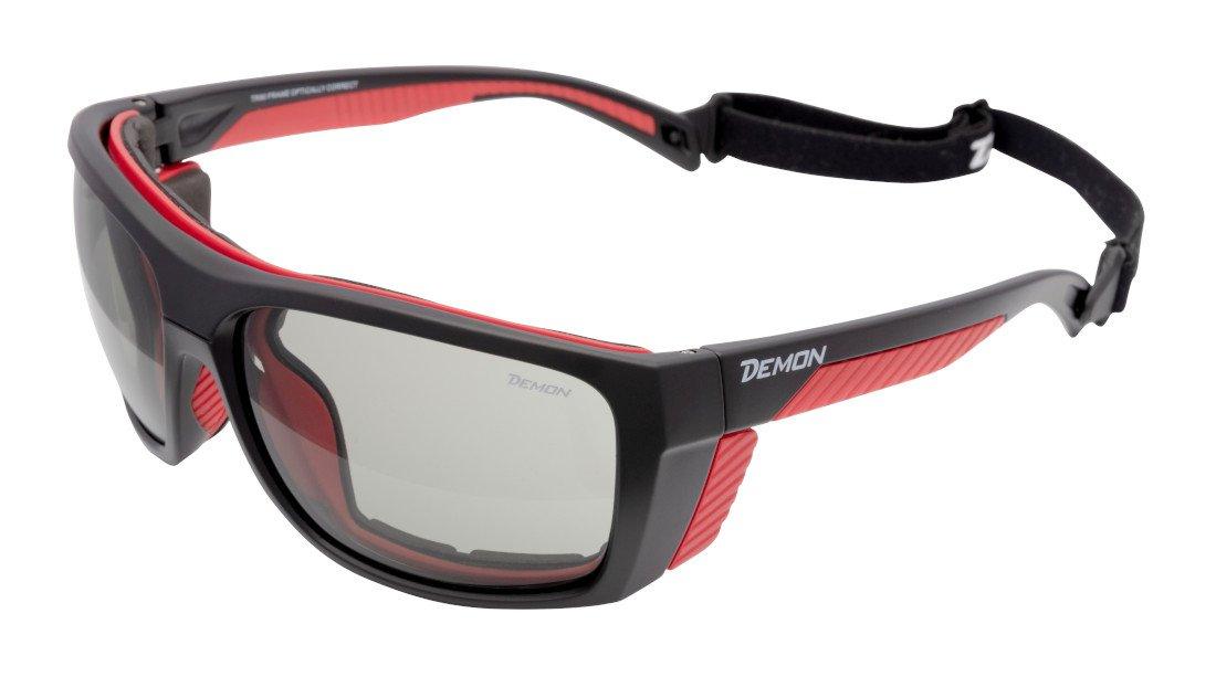 Occhiale per alpinismo ed escursionismo spugna parasudore lente fotocromatica 2-4 modello eiger nero opaco rosso