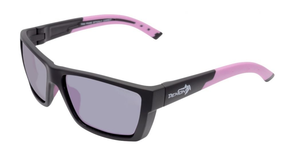 occhiale sportivo per beach volley lenti polarizzate specchiate modello soul nero viola