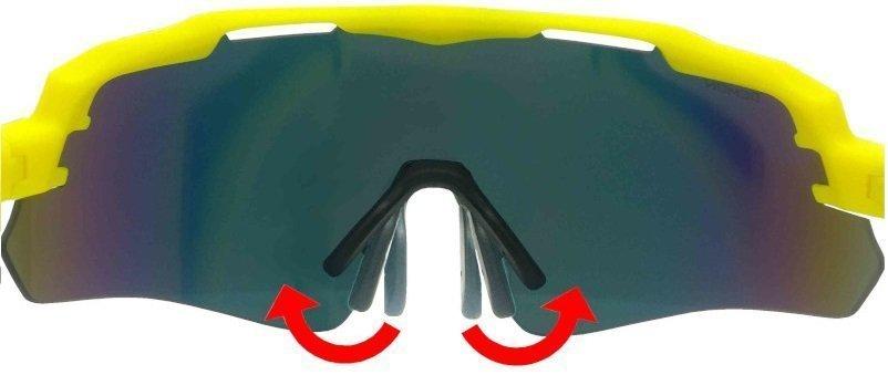 Occhiali da ciclismo e mountain bike con nasello regolabile in gomma anallergica