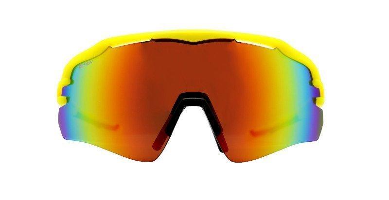 Occhiali da ciclismo e mountain bike monolente a mascherina giallo fluo modello IMPERIAL